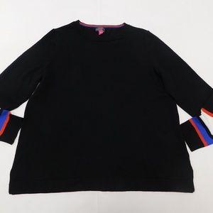 Vince Camuto PL Black Crewneck Sweater  Cotton Ble